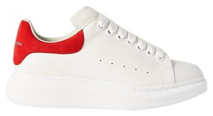 Item - Suede-trimmed Leather Exaggerated-sole Sneakers