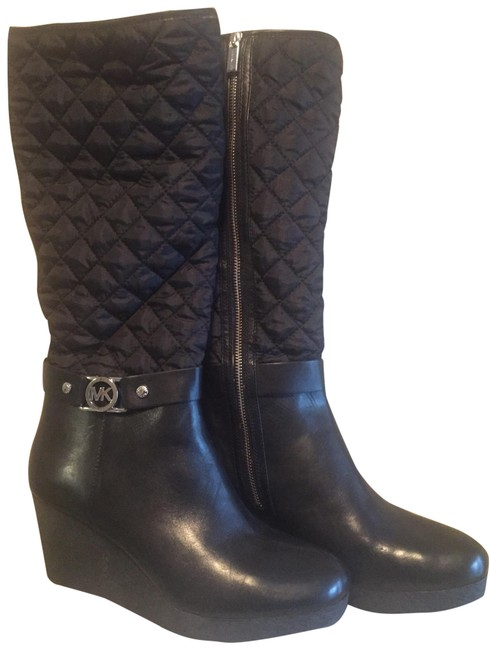 Item - Black Aaran Quilted Wedge Boots/Booties Size US 11 Regular (M, B)