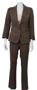 DKNY DKNY BROWN LINEN 2 PIECE PANT SUIT SIZE 4 AND 2 ON SALE DL