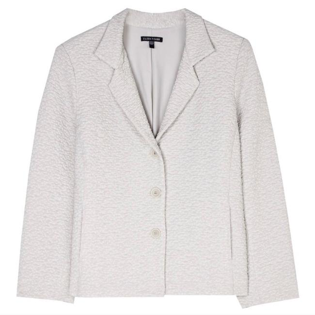 Item - Beige Porcini Luck Textured Crinkled Blazer with Front Buttons Jacket Size 10 (M)