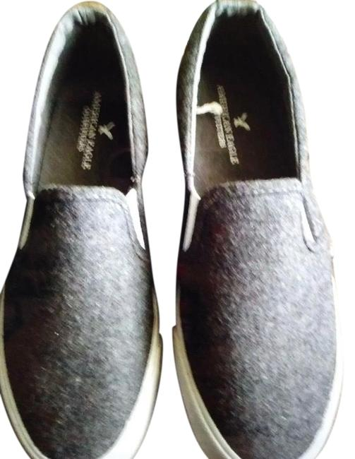 Item - Gray Wool Double Gore Sneakers Size US 8 Regular (M, B)