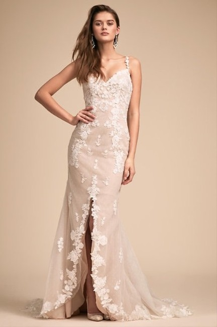 BHLDN Ivory and Tan Whispers Echoes Must Be Fate Gown Destination Wedding Dress Size 4 (S) BHLDN Ivory and Tan Whispers Echoes Must Be Fate Gown Destination Wedding Dress Size 4 (S) Image 1