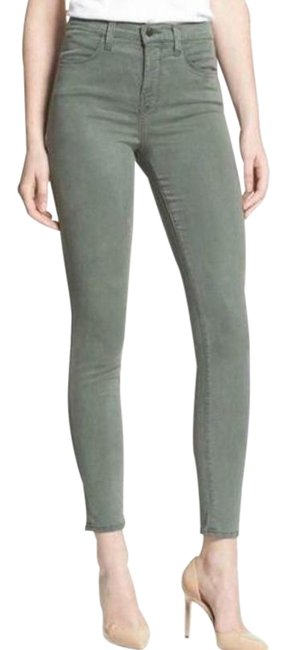 Item - Green Distressed Olive Ankle Crop Skinny Jeans Size 30 (6, M)