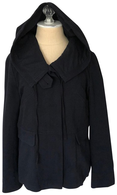 Item - Navy Blue Ponte Emilen Hooded Jacket Coat Size 8 (M)