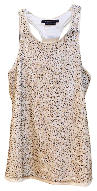Item - Sequin Sparkle White and Gold Top