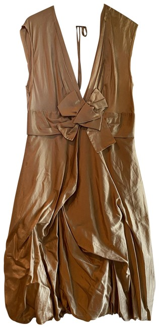 Item - Sand Party Mid-length Night Out Dress Size 12 (L)
