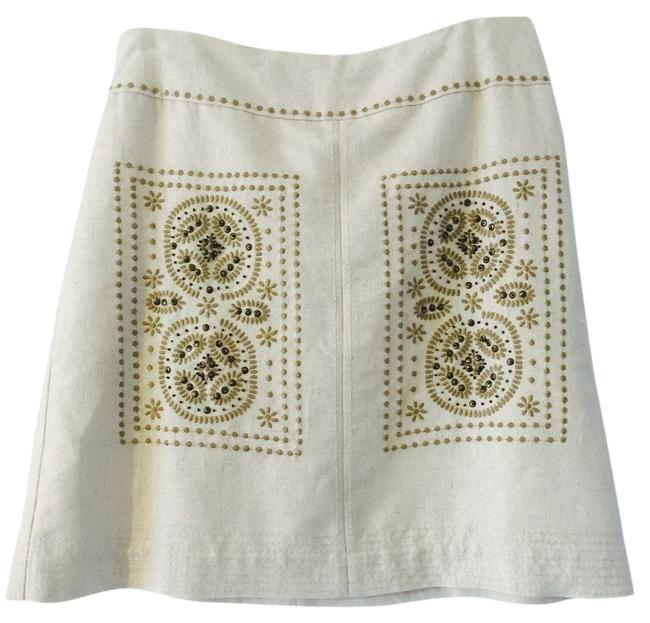Item - Off White A Line Skirt Size 2 (XS, 26)