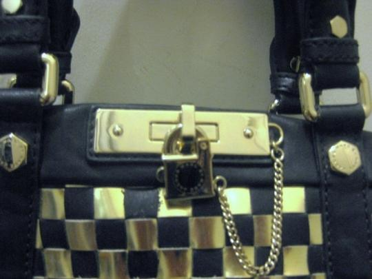 Marc by Marc Jacobs Satchel in Black/Gold