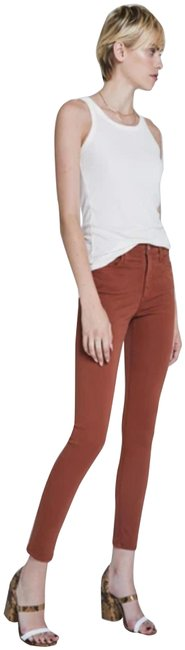 Item - Rust Farrah High Rise Ankle Style No. Zlss1777 Skinny Jeans Size 27 (4, S)