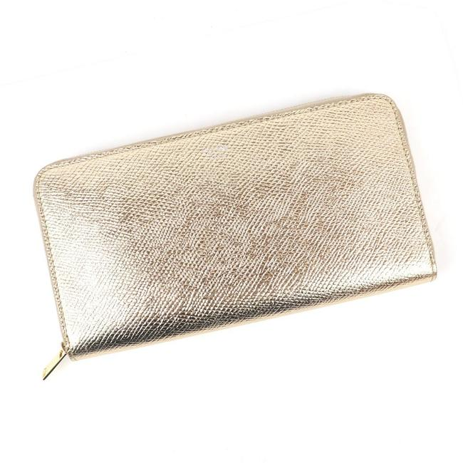 Item - Gold 19aw Round Zip Large Long Ladies Grain Leather Wallet