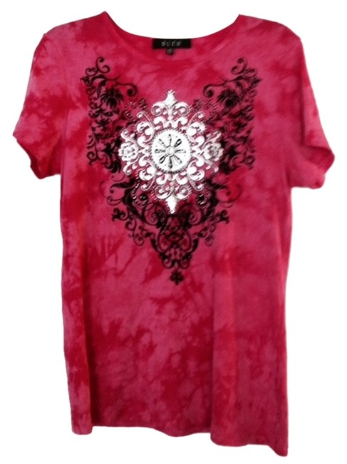 Preload https://item4.tradesy.com/images/bleulab-pink-and-black-tee-shirt-size-8-m-2813863-0-0.jpg?width=400&height=650