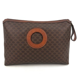 Item - Brown W Vtg Womens Canvas / Toilet / Pouch / Purse Logo Cosmetic Bag