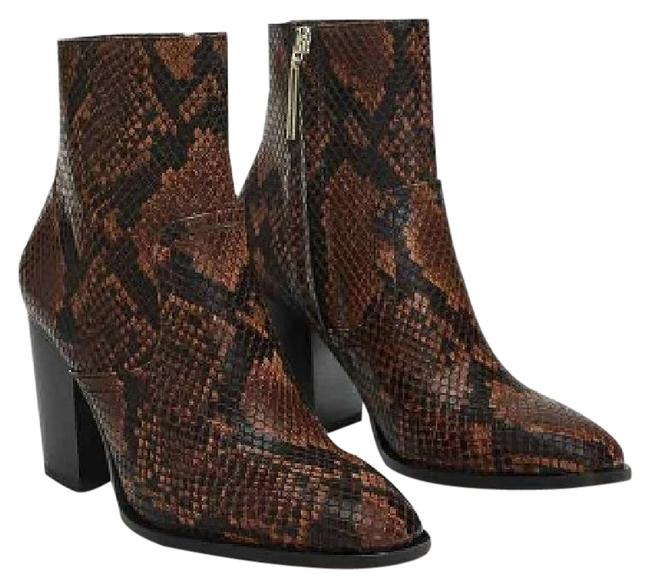 Item - Brown Animal Print Heeled Ankle Boots/Booties Size US 9 Regular (M, B)