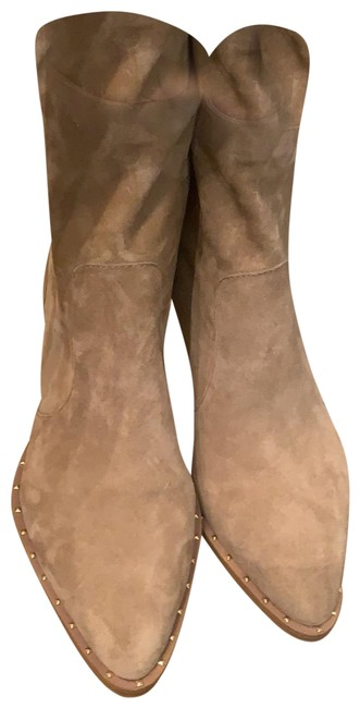 Item - Tan Suede Cotter Boots/Booties Size US 7 Regular (M, B)