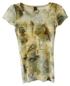 Jean-Paul Gaultier Top Mix Print