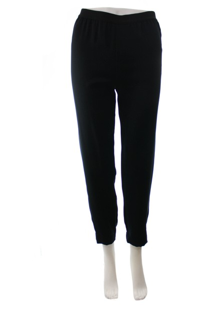 Item - Black Polyester Relaxed Fit Track Medium Pants Size 8 (M, 29, 30)