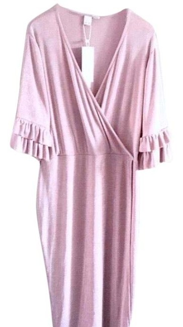 Item - Pink Asos Long Sleeve Wrap Sheath Mid-length Night Out Dress Size 16 (XL, Plus 0x)