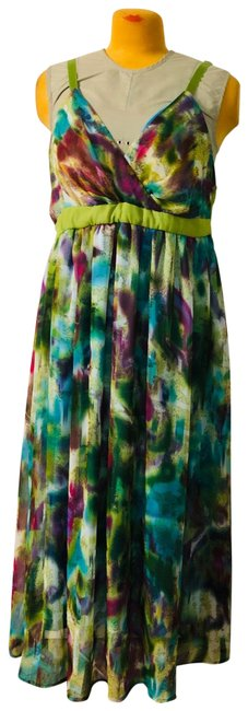 Item - Colorful Long Casual Maxi Dress Size 22 (Plus 2x)
