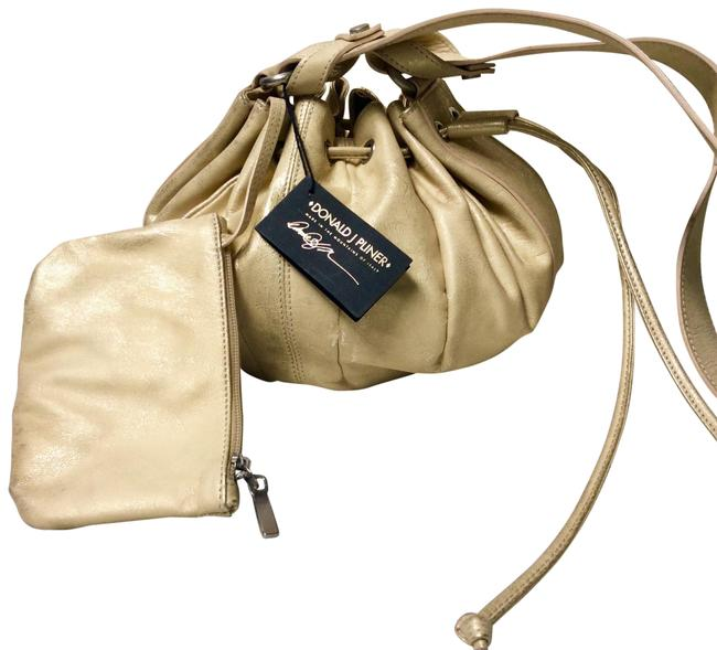 """Item - Drawstring Bucket """"dylan"""" And Ivory Gold Leather Hobo Bag"""