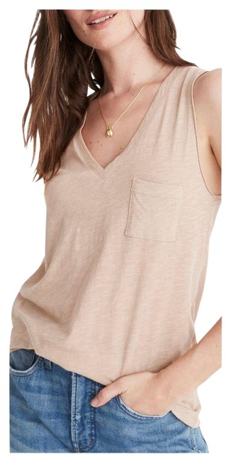 Item - Tan Whisper Cotton Telluride Stone Sleeveless S Tee Shirt Size 4 (S)