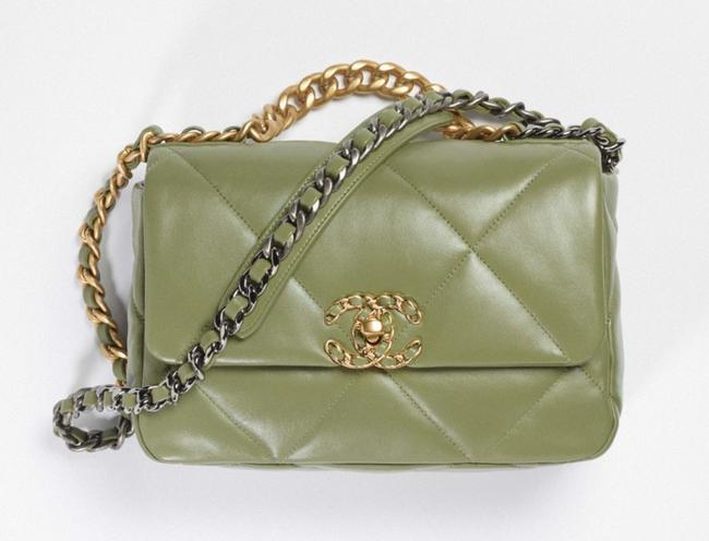 Item - 19 Small Green Leather Cross Body Bag