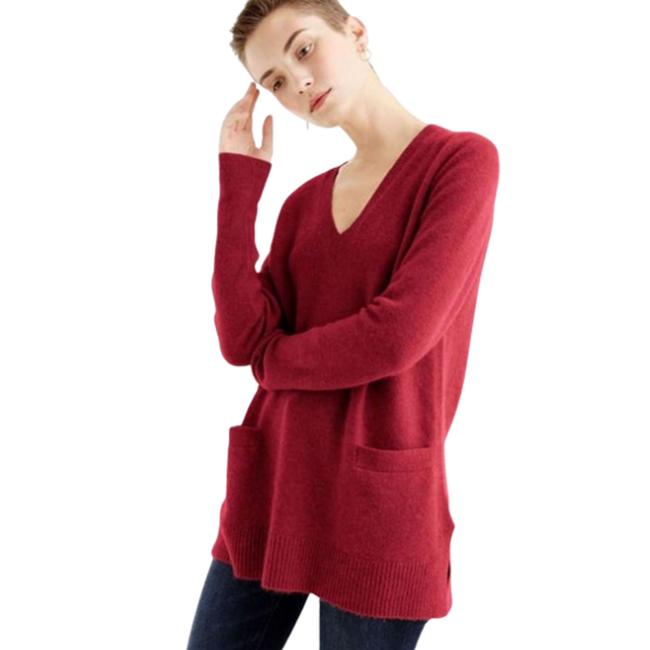 Item - Red Burgundy XS V-neck Sweater In Supersoft Yarn Tunic Size 2 (XS)