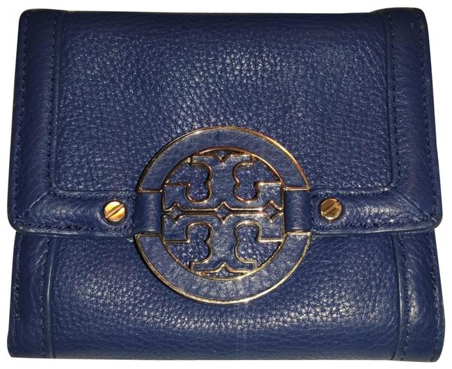 Item - Purple Amanda French Compact Leather Wallet