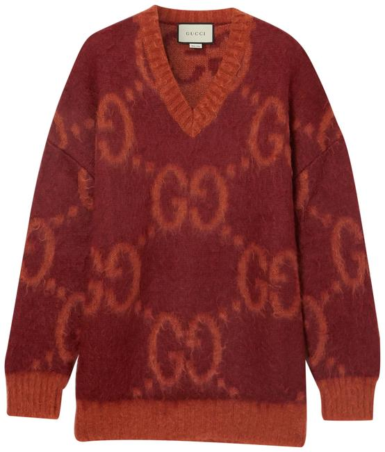 Item - Intarsia Mohair-blend Red Sweater
