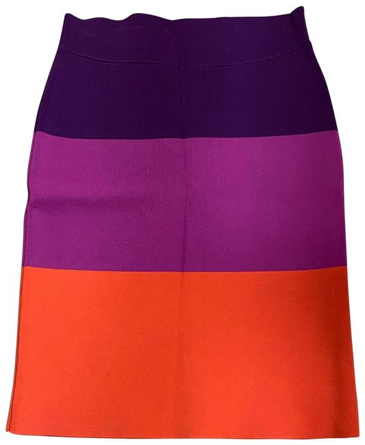 Item - Deep Purple/Light Purple/Orange Tri Color Bandage Skirt Size 8 (M, 29, 30)