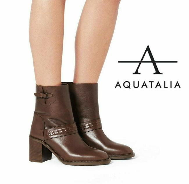 Item - Brown Evette Womens Strap Buckle Ankle Pull On Leather Boots/Booties Size US 8 Regular (M, B)