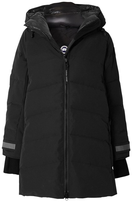 Item - Black Merritt Hooded Quilted Shell Down Coat Size 12 (L)
