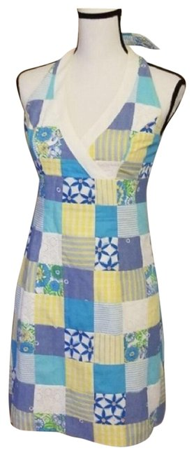 Item - Blue and Yellow Marlon Short Casual Dress Size 2 (XS)