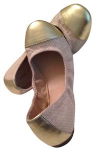 Sole Society Beige Gold Flats