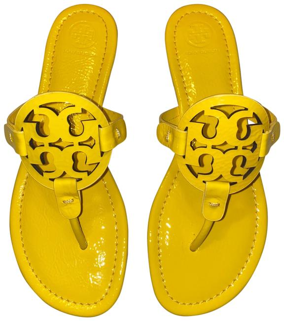 Tory Burch Limone Miller Patent Sandals Size US 8 Regular (M, B) Tory Burch Limone Miller Patent Sandals Size US 8 Regular (M, B) Image 1