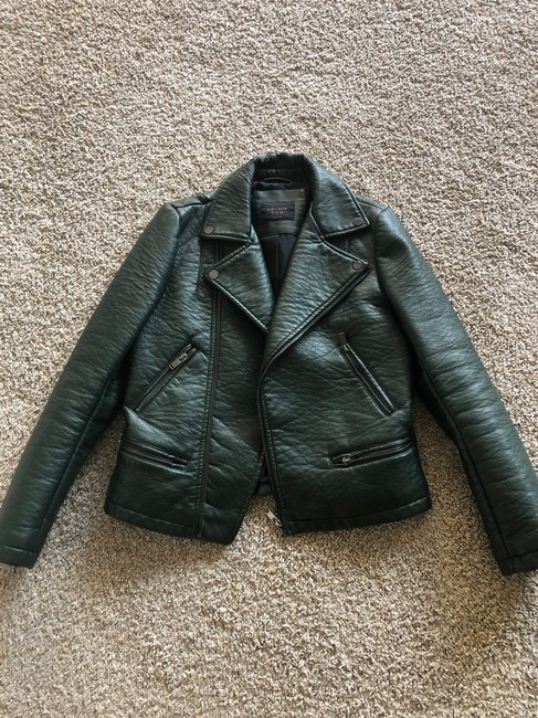 Item - Forest Green Faux Jacket Size 8 (M)