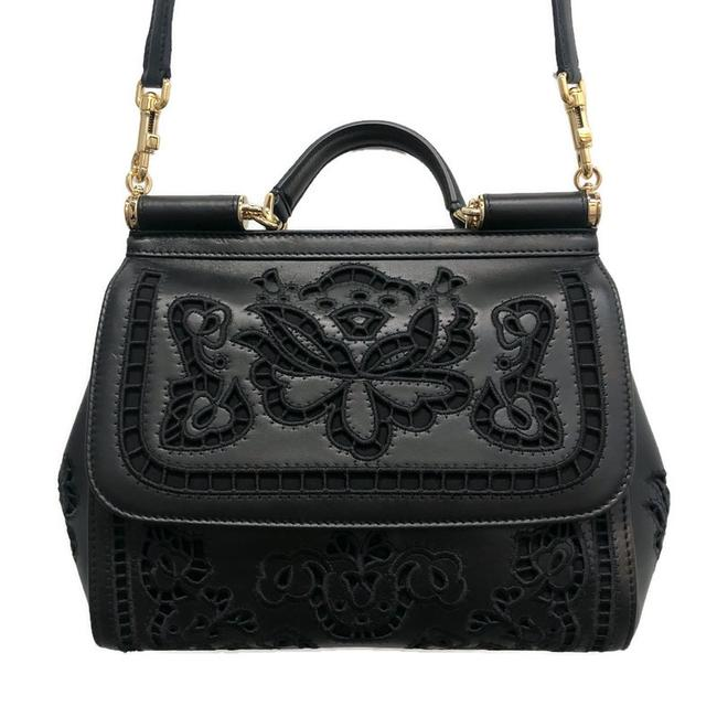 Dolce&Gabbana Medium Sicily In Nappa Black Leather Cross Body Bag Dolce&Gabbana Medium Sicily In Nappa Black Leather Cross Body Bag Image 1