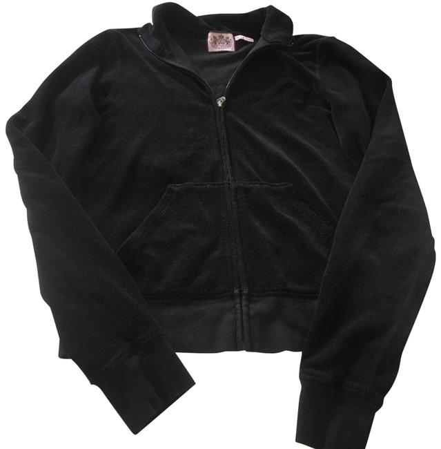 Item - Black Terry Cloth Track Suit Activewear Outerwear Size 6 (S)