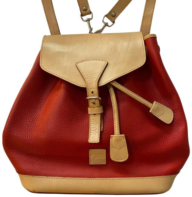 Item - 620542 Red Tan Leather Backpack