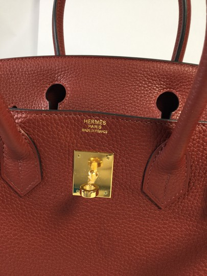 Hermès Clemence Leather Birkin Satchel in Rouge