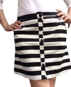 Lily White Skirt Stripe Black/white