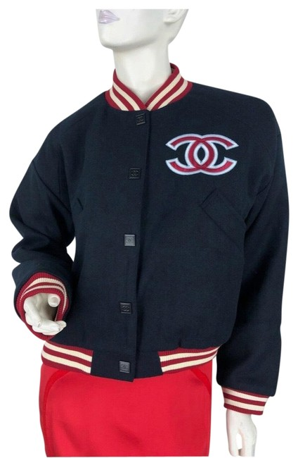 Item - Blue Red White Baseball Jacket Size 8 (M)