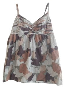 Other Army Green and Brown Halter Top