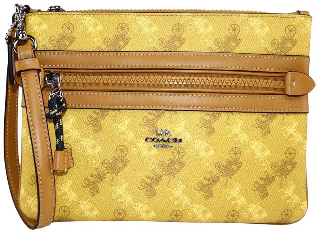 Item - Signature Yellow Coated Canvas Clutch