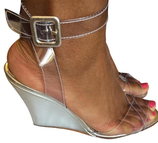 Item - Silver Wedges Size US 8.5 Narrow (Aa, N)
