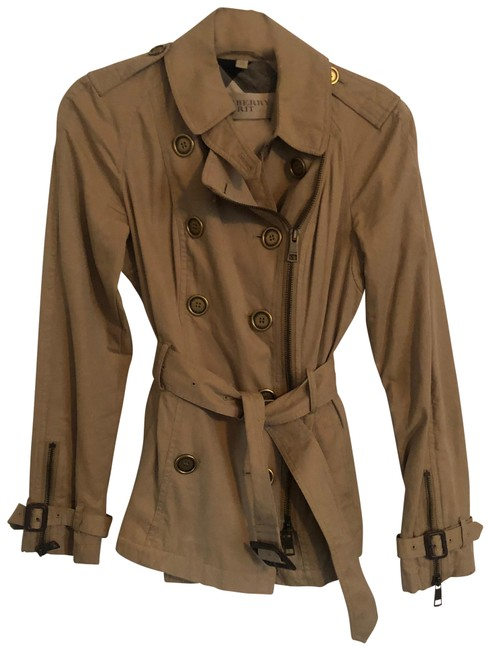 Item - Tan Double Breasted Jacket Size 8 (M)