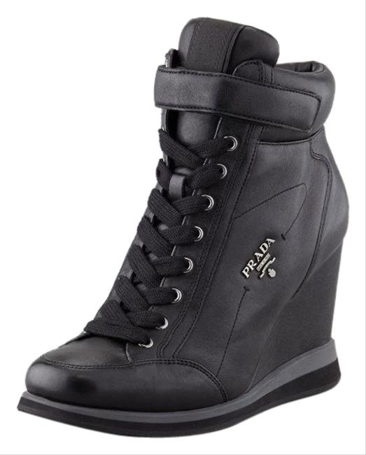 Item - Black Up Wedge Sneakers Size EU 36.5 (Approx. US 6.5) Regular (M, B)