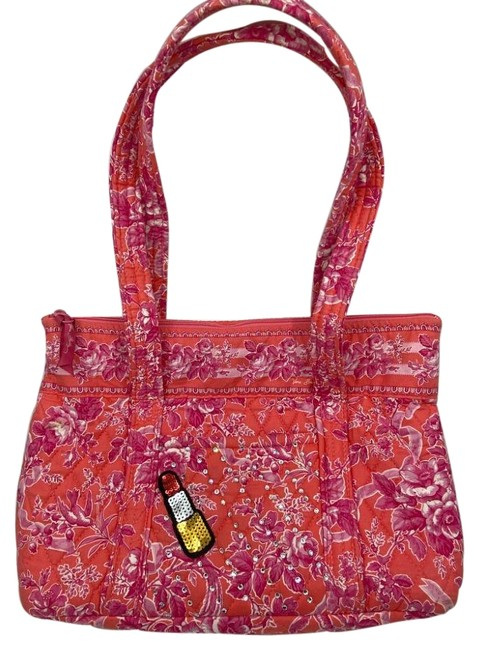 Item - Bag W Quilted W/ Wallet Customized and Bedazzled Red Purple Tote