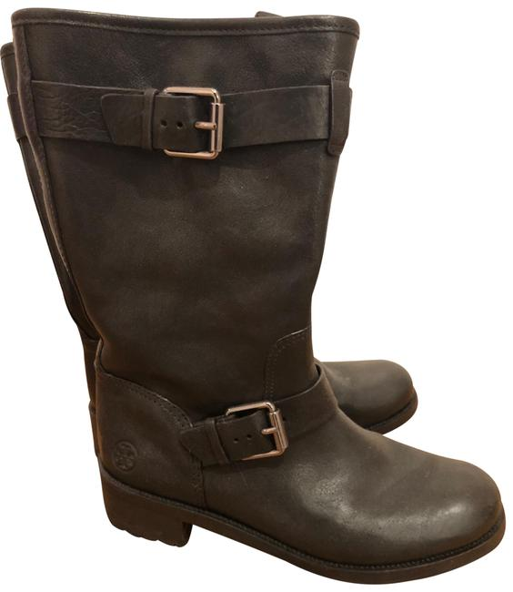 Item - Black Moto Leather Boots/Booties Size US 8.5 Regular (M, B)