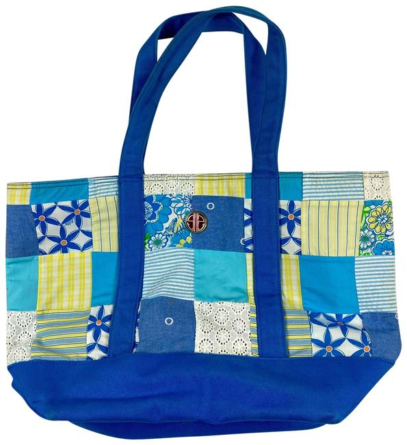 Item - Bag Patchwork Blue/Multicolored Canvas Tote