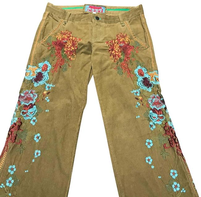 Item - Dark Khaki 2-10-10-5 By Johnny Was Floral Cords Pants Size 4 (S, 27)